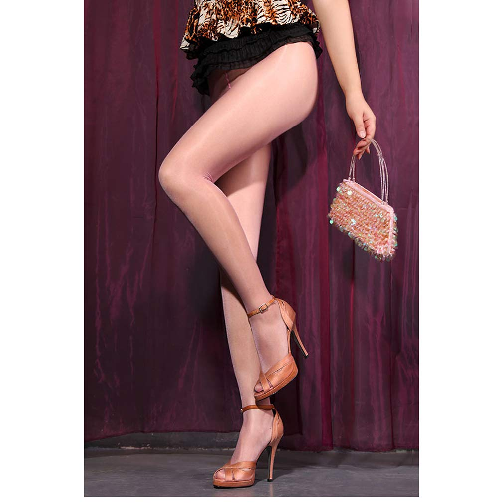 32231564d Galleon - 1 DDLIN Sexy Glitter Shimmer Control Top Pantyhose Shiny Silky  Sheer Glossy Tights (Nude)