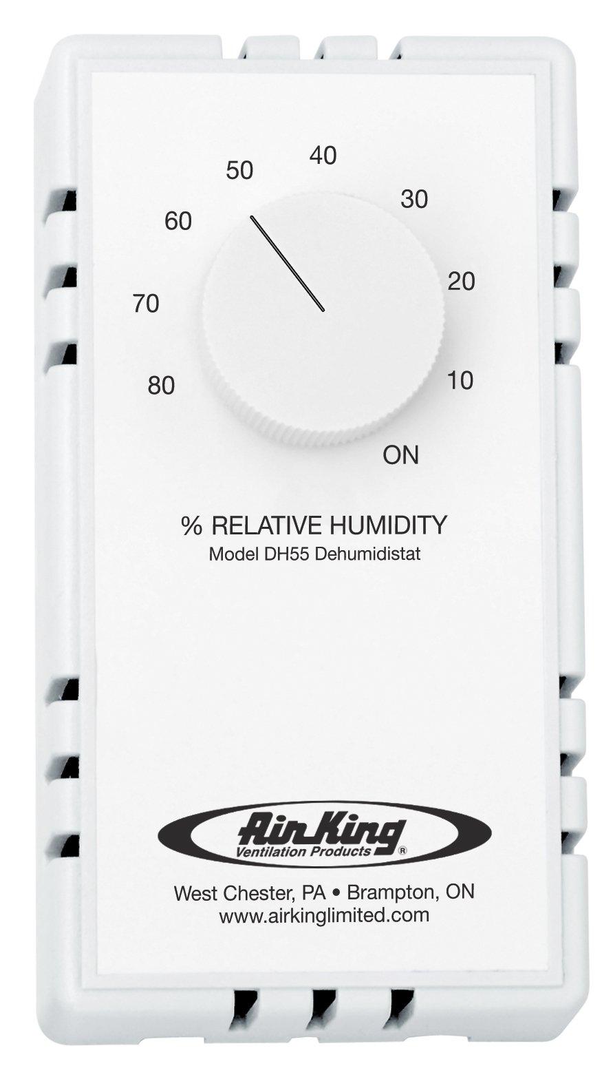 Air King DH55 Dehumidistat Switch, White by Air King