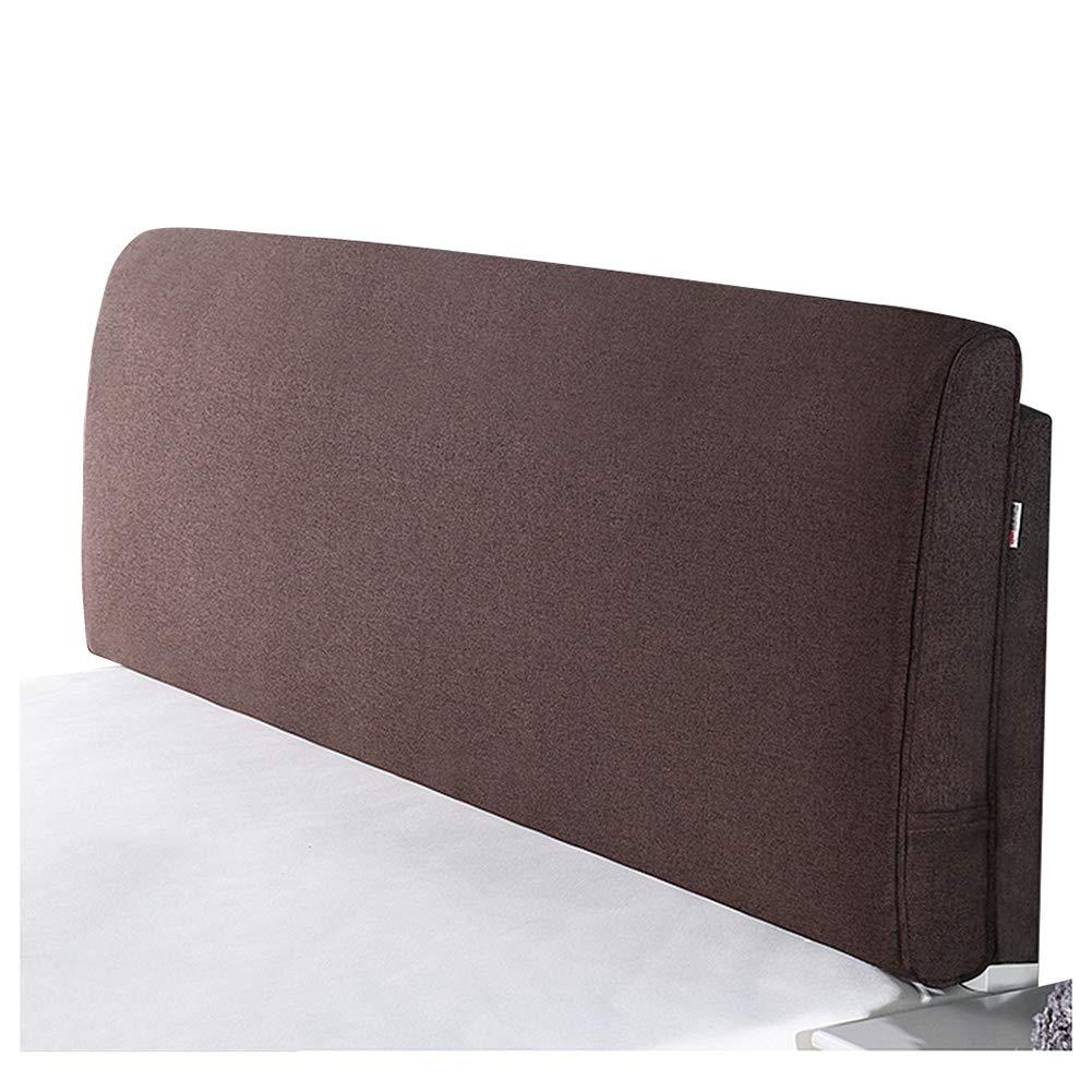 【一部予約販売】 ベッドサイド クッション ベッドの背もたれヘッドボード付き/なしのフィットベッド リネン 取り外し可能かつ洗濯可能 150cm|Dark、 8色 ベッドサイド brown-A (色 : Yellow-A, サイズ さいず : 200cm) B07R6PYMJG 150cm|Dark brown-A Dark brown-A 150cm, 新品:d6a918b0 --- arianechie.dominiotemporario.com