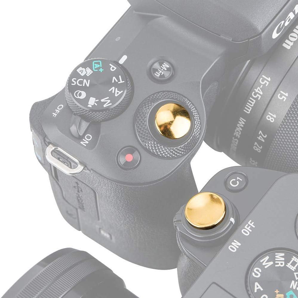 Nicht-verschraubt PROfezzion Metall Ausl/öseknopf f/ür Panasonic Lumix LX100II LX100 ZS200 ZS100 ZS70 ZS60 ZS50 Kamera mit Flachem Ausl/öseknopf Konkaver /& Konvexe Hellrot Kit