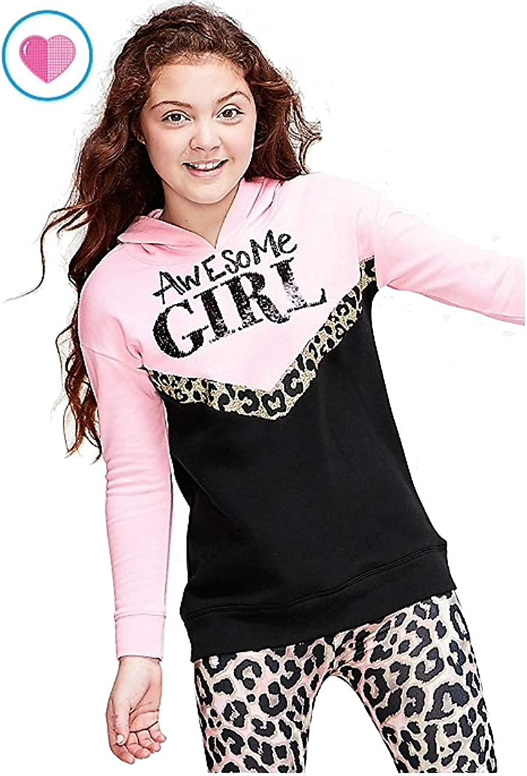Pink, 10 Justice Girls Tunic Hoodie