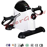 Mini Pedal Exerciser Bike Fitness Exercise Cycle Leg Arm w/ LCD Display Home Gym