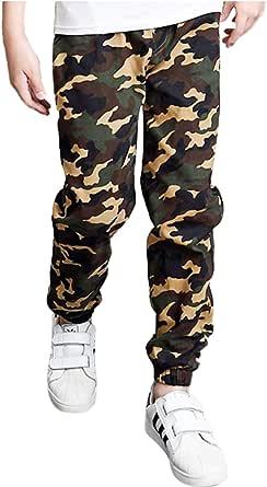 Aislor Niños Pantalones Cargo Camuflados de Moda Pants Pantalón de Chándal Ropa Deportiva Infantil de Jogging Ropa de Calle Casual Otoño Primavera