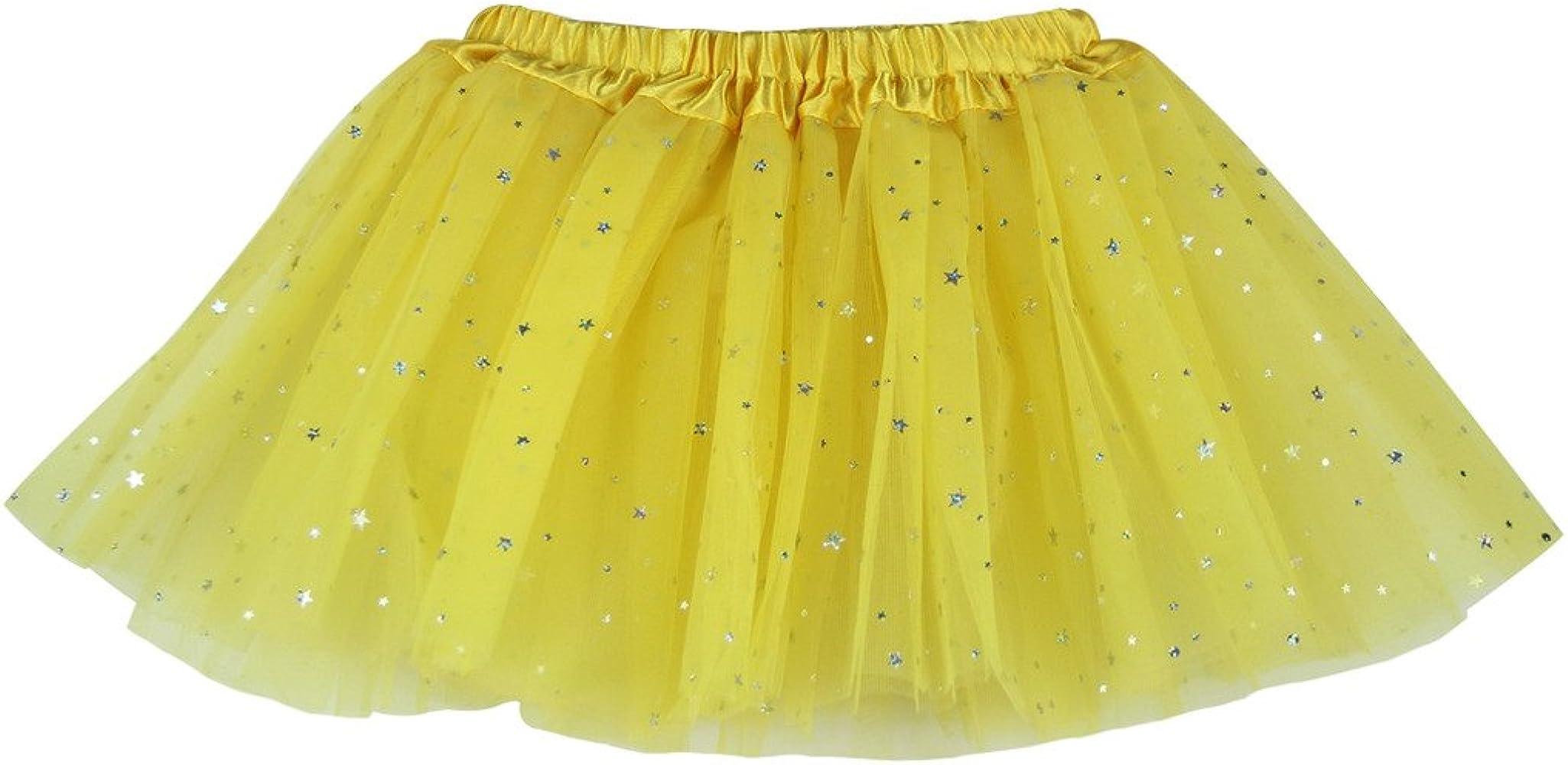 BUENOS NINOS Falda de ballet con lentejuelas para niña de 3 capas ...
