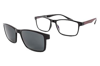 Gafas de lectura con iman para sol - Gafas de presbicia - Vista cansada graduadas - Unisex - Mujer - Hombre - 6016 (C2, 3.00 Dioptrías)