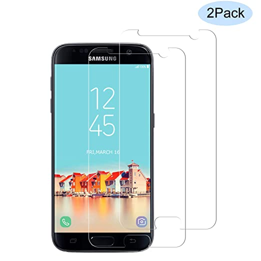 CNXUS [2 Stück Panzerglas Kompatibel mit Samsung Galaxy S7, Samsung S7 Panzerglasfolie Schutzfolie Ultra-klar 9H Härtegrad An