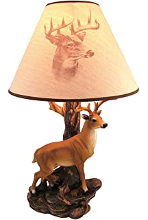 North american bull moose table lamp w shade table lamps champion 12 point buck table lamp w printed shade aloadofball Gallery
