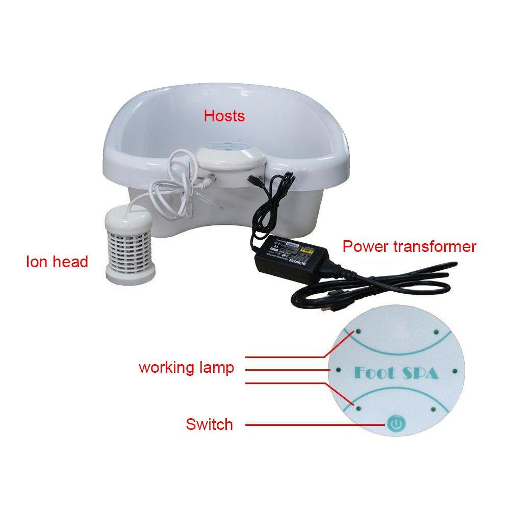 HUKOER Desintoxicación iónica Célula de baño para pies Célula SPA Spa Pie Bañera de hidromasaje Sistema de cuidado médico con cuenca de plástico