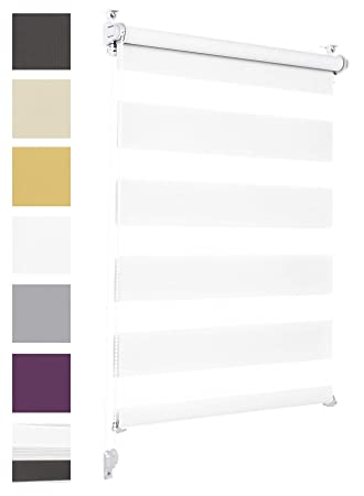 weit verbreitet große Auswahl klassischer Stil Doppelrollo Klemmfix ohne Bohren 35cm x 150cm Weiß Duo Rollo Klemmrollo  Sonnenschutzrollo Fensterrollo für Fenster & Türen Zebrarollo Seitenzugrollo