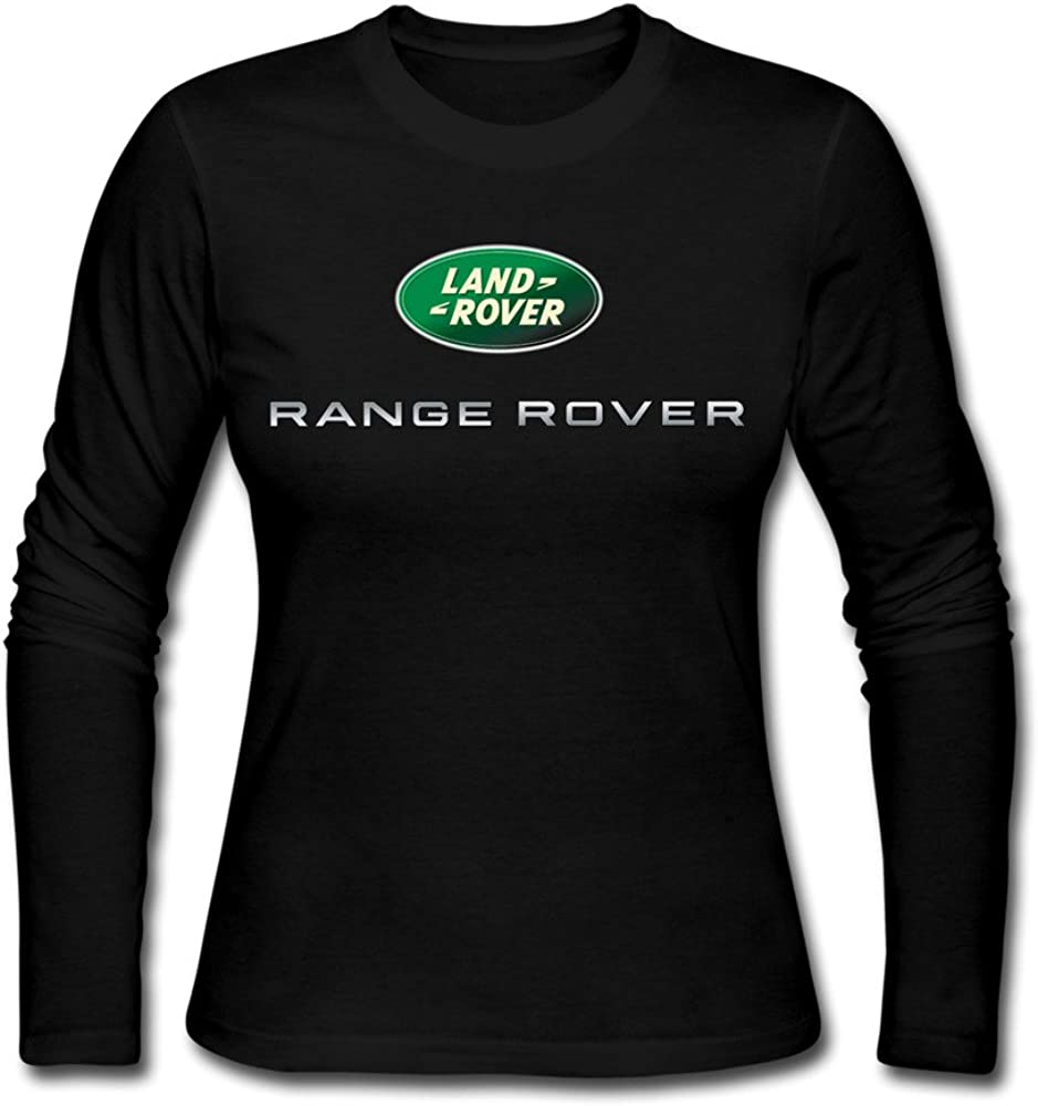 FQZX Women's Range Rover Logo Long Sleeve T Shirt Black