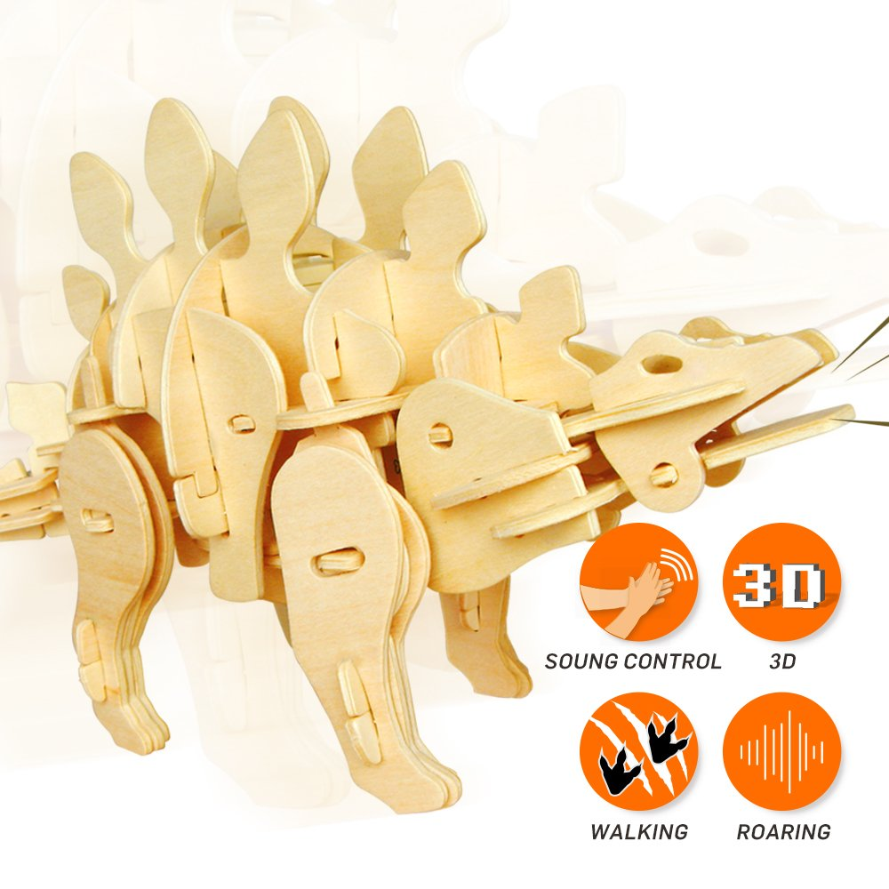 ROBOTIME 3D Wooden Biting T-Rex Dinosaur Puzzle Best Birthday Gifts School Kids