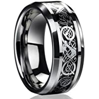 ERAWAN New Silver Celtic Dragon Titanium Stainless Steel Men's Wedding Band Rings EW sakcharn