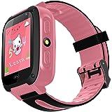 Kids Smartwatch con GPS flash luz nocturna pantalla táctil reloj inteligente anti-lost alarma pulsera para niños niñas niños compatible para iPhone Android