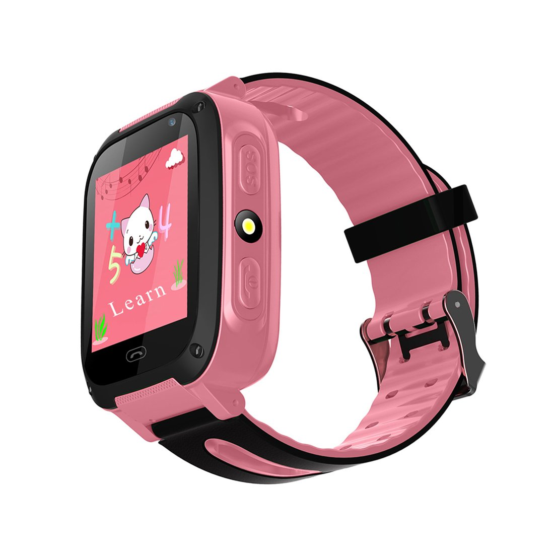 TDH Kids GPS Smartwatch, Anti-lost Smart Watch for Children Girls Boys Compatible for iPhone Android (Pink)