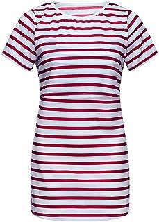 BESSKY Femme Enceinte T Shirt Drole Multifonction pour Femme à Main De Maternité
