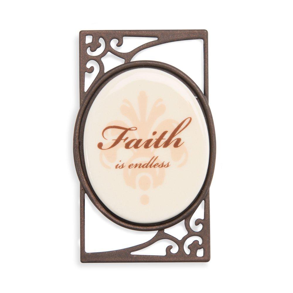 Pavilion-Decorative Fridge Magnet ''Faith is endless'' by Pavilion Gift Company