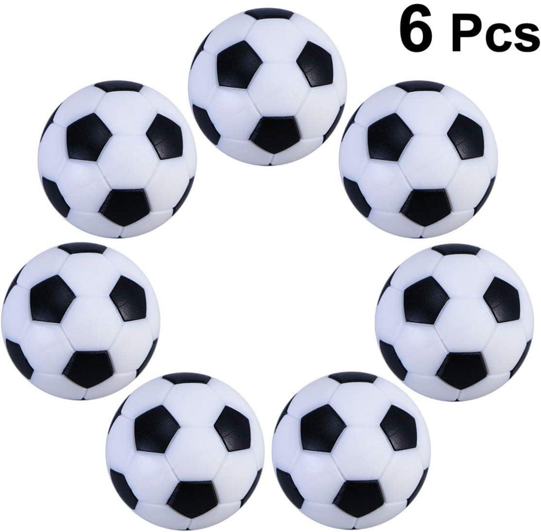 Healifty 6Pcs 32Mm Futbolines de Mesa Futbolín Futbolín Futbolín Futbolín Juego de Plástico Futbolín Futbolín-Negro/Blanco: Amazon.es: Juguetes y juegos