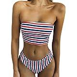 Amazon.com: Triangle Metallic Halter Back Bikini Set