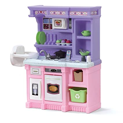 Amazon Com Step2 Girls Kitchen Includes 30 Piece Accessory Set