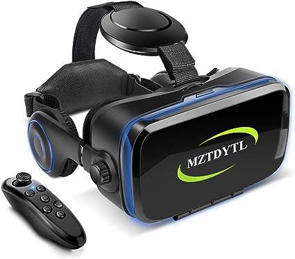 Amazon.co.jp: VR ゴーグル VRヘッドセット 「最新型 メガネ 3D ゲーム 映画 動画 Bluetooth コントローラ/リモコン  付き 受話可能4.7-6.2インチの iPhone Android などのスマホ対応 黒 日本語取扱説明書付き (黒): 家電・カメラ