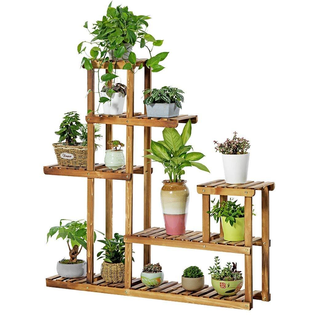 GX Scaffale Porta-Fiori Nordic Simple Multi-Level Flower Stand Indoor Outdoor Scaletta in Legno Stand Flower Garden Stairs Vaso da Esposizione
