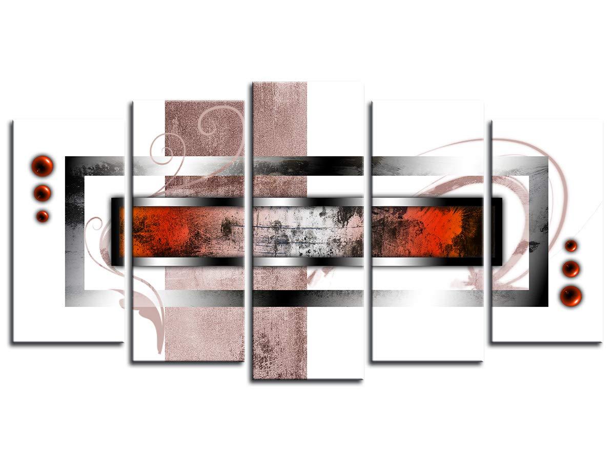 Tableau Design Tableau Deco Tableau Mural,/Tableau Toile Deco Moderne Abstraite 150x80 cm Violet DECLINA D/écoration Chambre Tableau