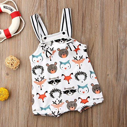 Honganda Cute Newborn Baby Girl Boy Animal Print Sleeveless Romper Jumpsuit One-Piece Bodysuit