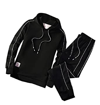 7669d864fb Tootless-Men Casual Sweatshirt Soft Hooded Active Tracksuit Outfit ...