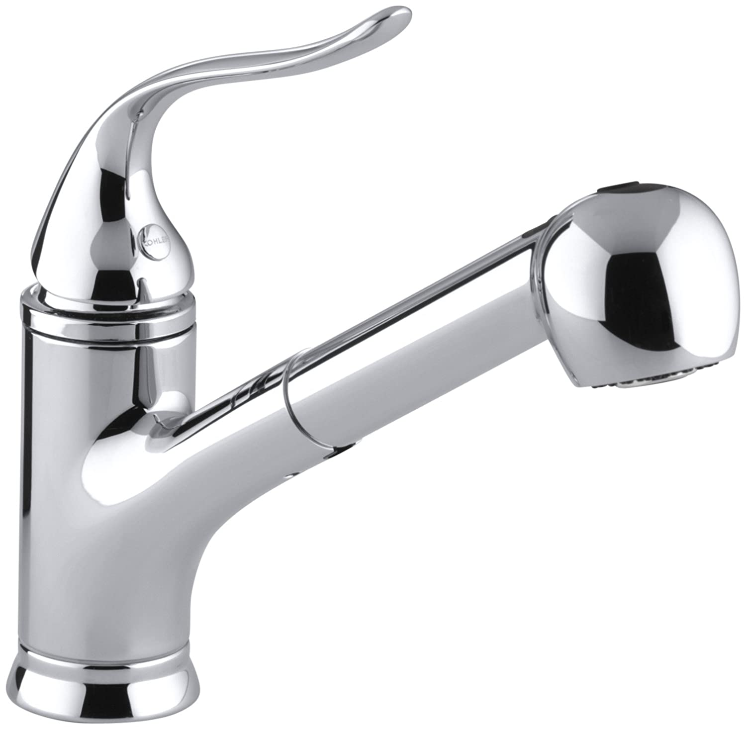 KOHLER K-15160-CP Coralais Single-Control Pullout Spray Kitchen Sink Faucet, Polished Chrome