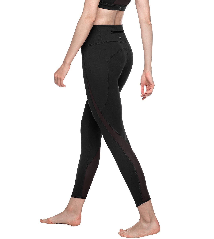 LAPASA Donna Leggings Allenamento Super Traspirante-CON INSERTI IN MESH-Pantaloni Sportivi Per Palestra Running Yoga L22