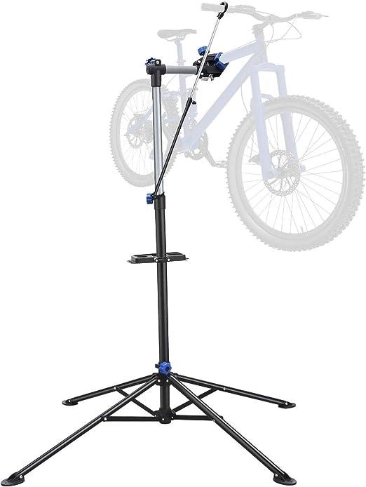 Yaheetech Caballete Plegable para Bicicleta Soporte de Reparación de Bicicleta Altura Ajustable Carga Max 30 KG: Amazon.es: Jardín