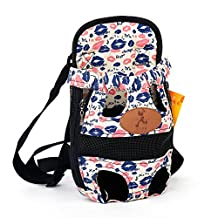 Soft Canvas Dog Pet Bag Carrier Front Backpack Shoulder Strip Chest Puppy Cat Travel Bag Canvas Lips S