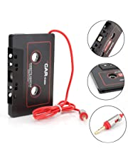 CICMOD Car Audio Cassette Adapter Tape Aux Receiver for iPhone iPod Android Samsung Black Cassette Player Adapters
