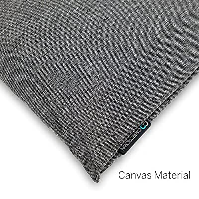 ASUS Zenbook CaseCrown Hideaway Canvas Sleeve with 3 Slots & Magentic Closure (Gray)