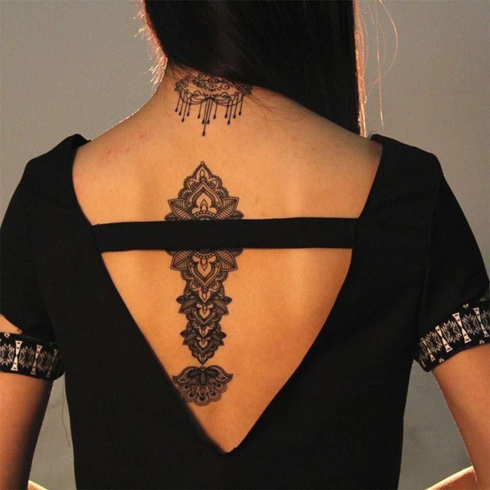 Tatuajes temporales de flores mandalas rosas para hombre y mujer ...