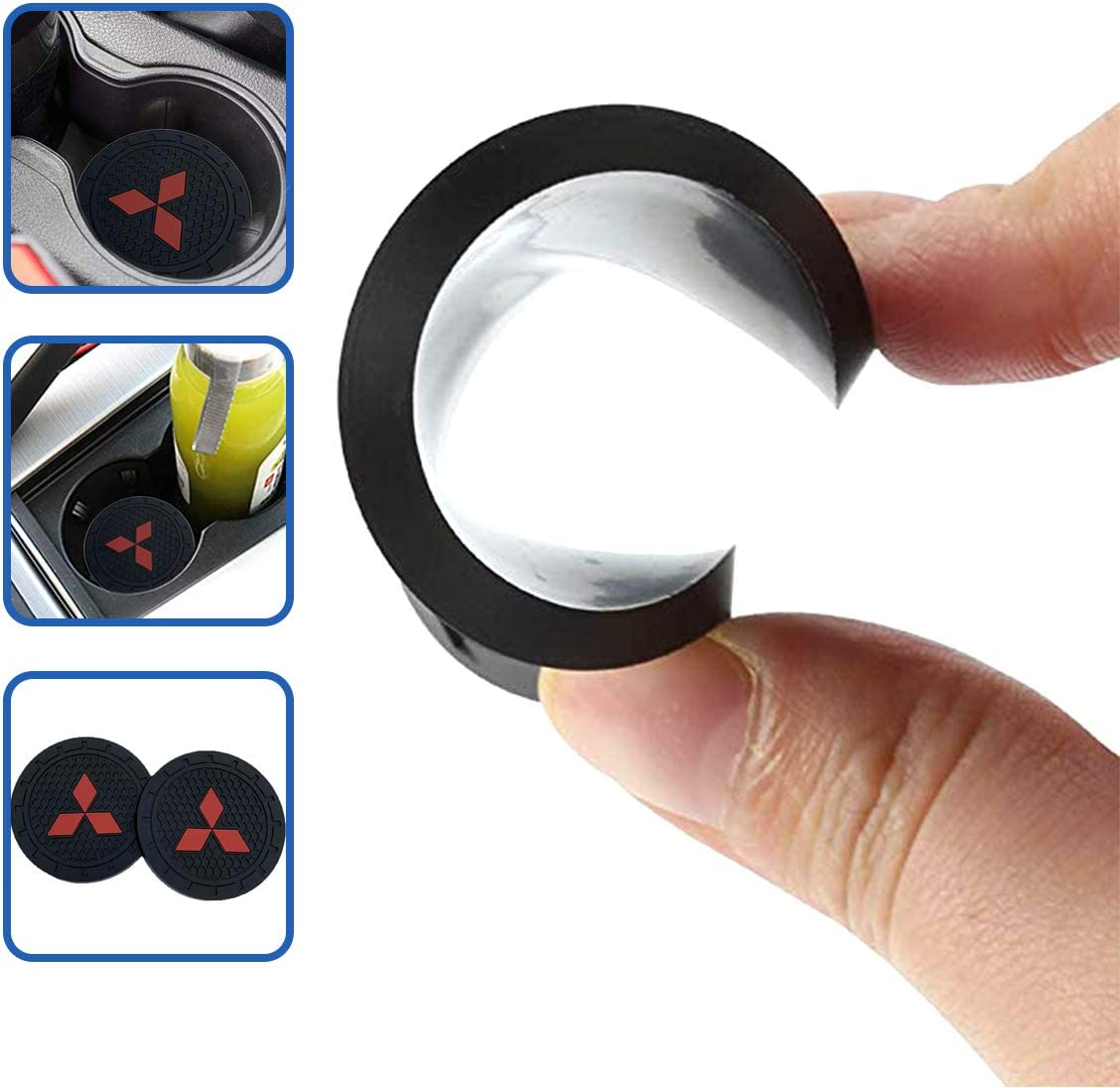 fit BMW Wall Stickz car Sales 2.75 Inch Diameter Oval Tough Car Logo Vehicle Travel Auto Cup Holder Insert Coaster Can 2 Pcs Pack