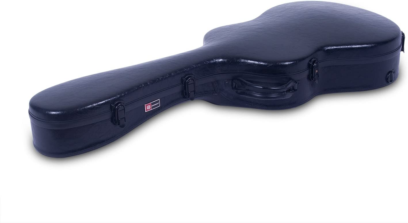 Backpack Style in Black Leather Crossrock CRF1000LBKL Fiberglass Les Paul Guitar Case Hardshell