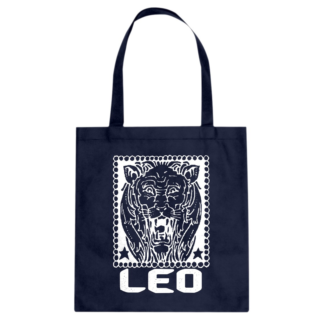 Indica Plateau Leo Zodiac Astrology Cotton Canvas Tote Bag