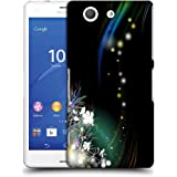 Snoogg White Flowers Designer Protective Phone Back Case Cover For SONY XPERIA Z3 COMPACT