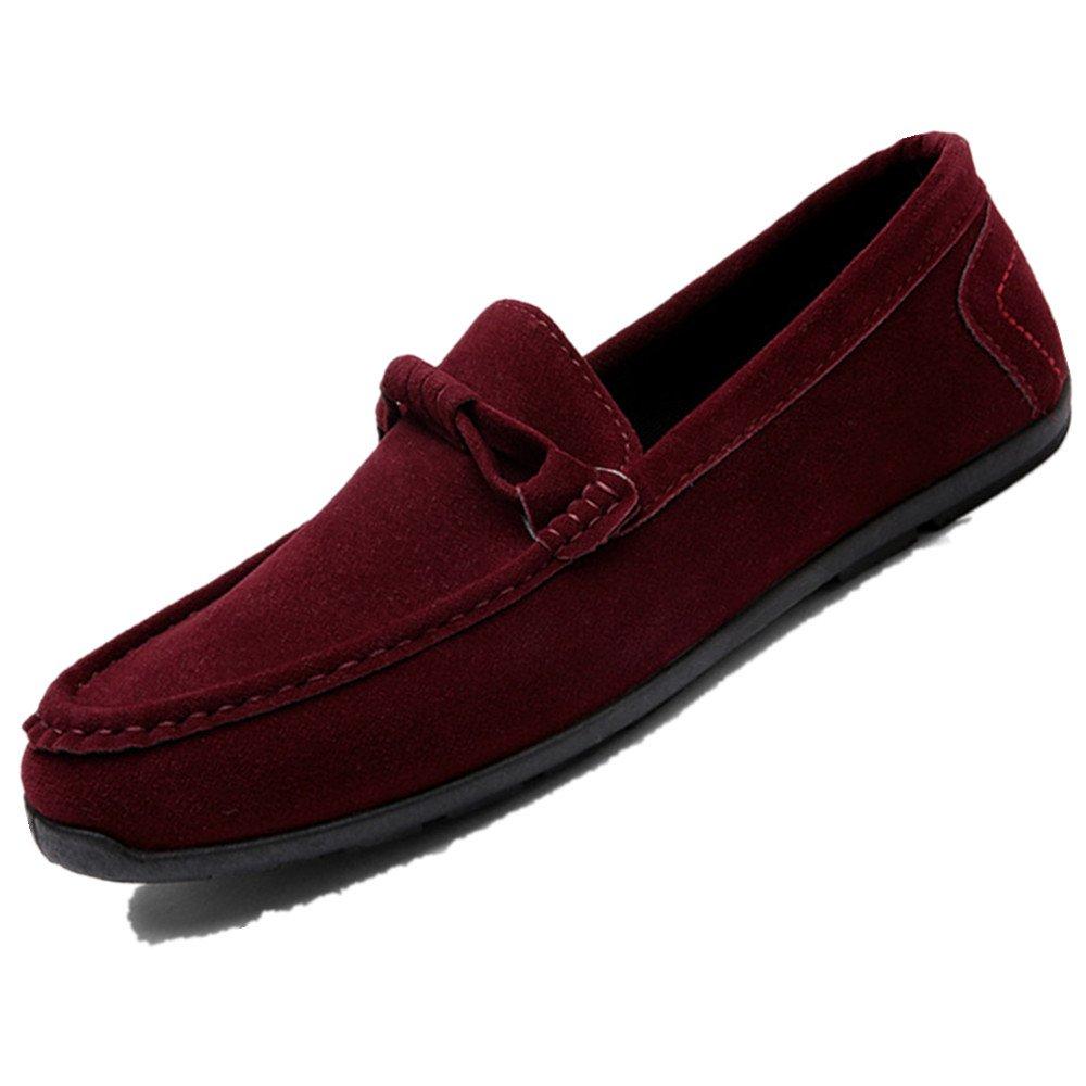 LIEBE721 Mode Lauml;ssig Schuhe Raster Slip auf Mauml;nner Beliebte Freizeitschuhe  39 EU|Rot