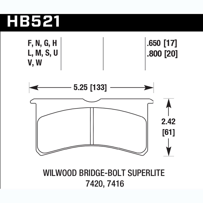 Hawk Performance HB521M.800 Auto Part by Hawk (Image #2)