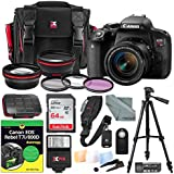 Canon EOS Rebel T7i DSLR Camera with EF-S 18-55mm f/3.5-5.6 IS STM Lens and DUMMIES Guide + Xpix Premium Travel Case, 64GB, Filters, Tripod, Flash, Remote, Deluxe Bundle
