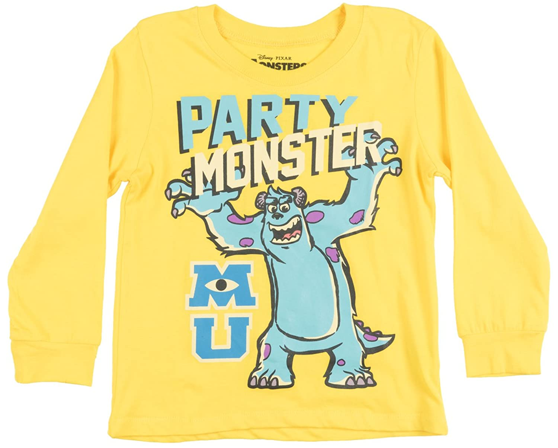 Amazon.com: Toddler Disney Monsters Inc Party LS Shirt Yellow 4T ...