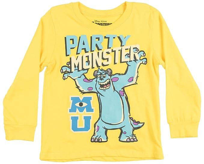 8b5eb0a2 Amazon.com: Toddler Disney Monsters Inc Party LS Shirt Yellow 4T ...
