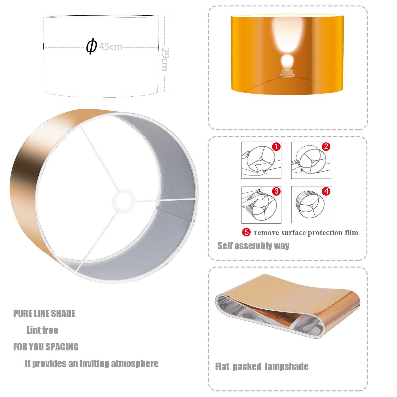 Floor lamp-Modern tripod floor Lamp with E27 Socket,Noble Stylish Floor Lamp in Black Copper, Ø 45 cm Lampshade and Max. 60W,157 cm Floor Lamp,Metal,for Living Room,Bedroom,Office