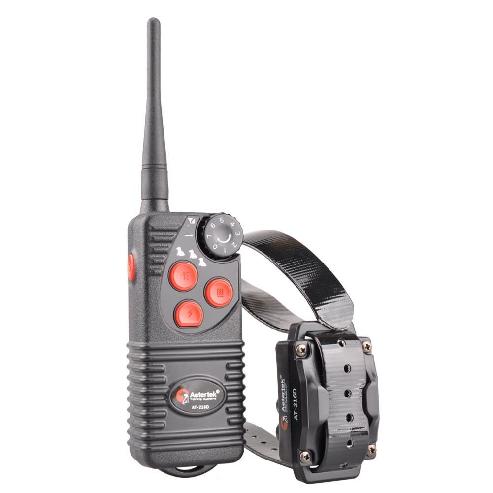 Aetertek Upgrade AT-216D 600 Yard Waterproof Rechargeable Remote Dog Training Shock Collar,Beep,Vibrate Stop Bark E Collar (for 1 Dog)