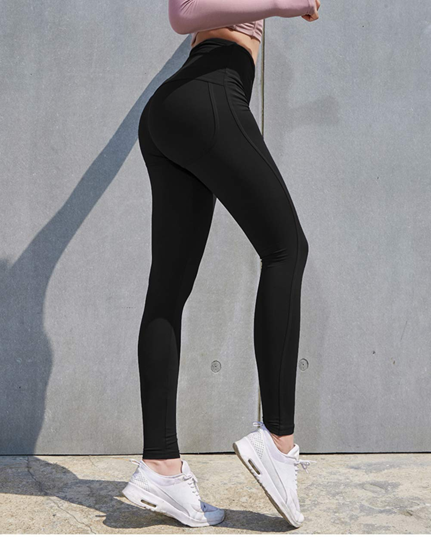 High Waist Yoga Pants Workout Capris Leggings,Tummy Control Butt Lifting Tights