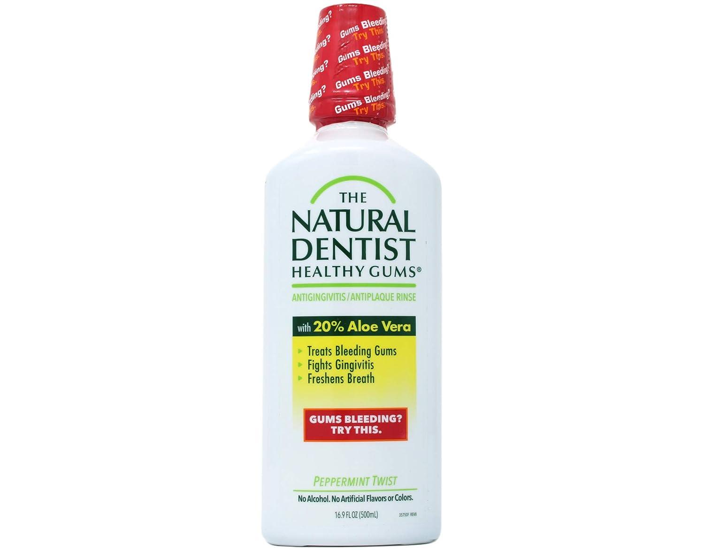 The Natural Dentist Healthy Gums Antigingivitis Rinse-Peppermint Twist-16.9 oz, 2 pk