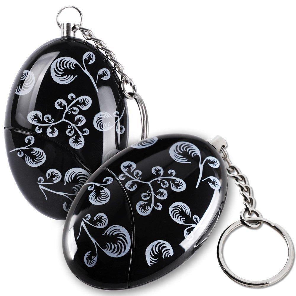 Lermende WCH8211 120 db. Emergency Personal Alarm Keychain for Women, Kids, Girls, Superior, Explorer Self Defense Electronic Device Bag Decoration, 2 Piece Mengde