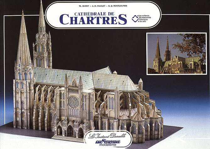 Chartres Cathedral: Scale Architectual Paper - Anne Marie Model